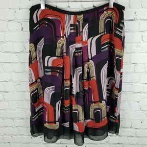 APOSTROPHE   abstract design flowy lined skirt